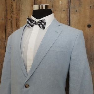 Stafford Sport Coat Mens 44R Linen Cotton Blend